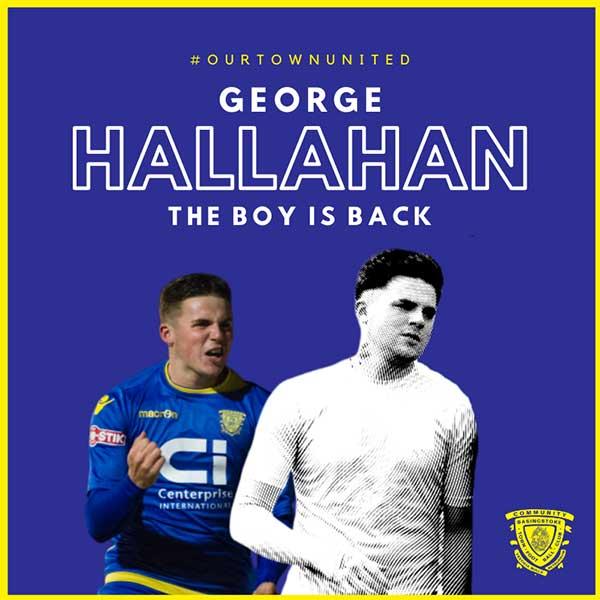 george hallahan back in blue